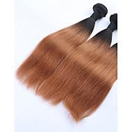 Emberi haj Brazil haj Ombre Egyenes Póthajak 3 darab Fekete / Medium Auburn