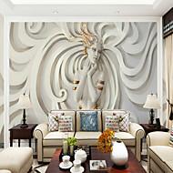 Art Deco 3D Sexy dame Behang voor thuis Orientaal Behangen , Canvas Materiaal lijm nodig Muurschildering , Kamer wandbekleding