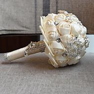 """Fleurs de mariage Bouquets Cérémonie de mariage Perle Dentelle 7.09""""(Env.18cm)"""