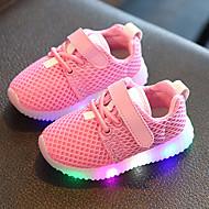 Djevojčice Sneakers Svjetleće tenisice Koža Til Proljeće Ljeto Jesen Kauzalni Hodanje Svjetleće tenisice Vezanje Kopčanje na kukicu LED