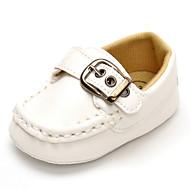 Baby Flate sko Komfort Kunstlær Vår Høst Bryllup Avslappet Fest/aften Komfort Magisk teip Flat hæl Hvit Svart Flat