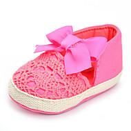 Baby Platte schoenen Comfortabel Weefsel Lente Herfst Bruiloft Causaal Feesten & Uitgaan Comfortabel Strik Platte hak Fuchsia Plat