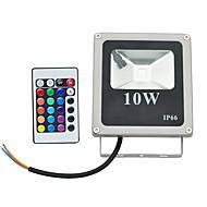 10W תאורה שוטפת לד 1 לד בכוח גבוה 800 lm RGB עובד עם שלט רחוק AC 85-265 V