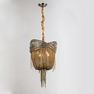 Lustres de fluxo de alumínio e12 / e14 / designer de luzes pendentes / latão antigo / sala de estar / inoxidável