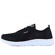 גברים נעלי ספורט נוחות חדשני צעדים ראשונים רשת נושמת PU קיץ סתיו מסיבה וערב נוחות חדשני צעדים ראשונים שחור אפור כחול שטוח