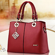 Women Bags Spring/Fall Winter PU Shoulder Bag with for Casual White Black Aquamarine Fuchsia Wine