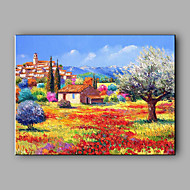 Large Size Hand-Painted Landscape Quiet Village One Panel Canvas Oil Painting For Home Decoration No Framed