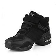 Kadın Dans Sneakerları Tül Spor Ayakkabı Dış Mekan Ayrık Renkler Düz Taban Siyah Siyah ve Altın 2,5 - 3,6 cm Kişiselleştirilmiş