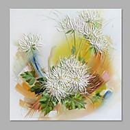 Peint à la main A fleurs/Botanique Format Vertical,Abstrait Moderne/Contemporain Un Panneau Toile Peinture à l'huile Hang-peint For