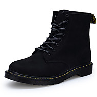 Women's Boots Comfort Snow Boots Fashion Boots Combat Boots Fall Winter Pigskin Casual Outdoor Office & Career Lace-up Flat Heel Low Heel