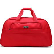 Damen Reisetasche Oxford Tuch Ganzjährig Normal Rund Reißverschluss Schwarz Rot
