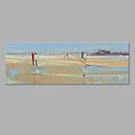 Kézzel festett Landscape Vízszintes,Művészi Egy elem Vászon Hang festett olajfestmény For lakberendezési