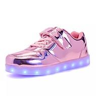 Para Meninos Para Meninas sapatos Couro Envernizado Primavera Verão Outono Inverno Conforto Inovador Tênis com LED Tênis Franzido Para