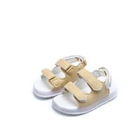 Drenge Sandaler Komfort PU Forår Sommer Afslappet Komfort LED Flad hæl Hvid Sort Gul Grøn Flad