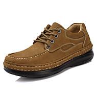 Unissex Oxfords Sapatos formais Pele Napa Outono Inverno Social Festas & Noite Sapatos formais Preto Castanho Claro 5 a 7 cm