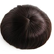 8x10 cali męska torebka perukowa mono podstawa włosy kawałek # 3 włosy toupee-6-calowe ludzkie włosy