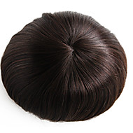 8x10 ίντσες mens toupee περούκα μονοφωνικό κομμάτι τρίχας βάσης # 3 τρίχες τρίχας μαλλιών-6 ιντσών