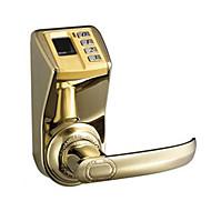 単一のロック舌の指紋パスワードメカニカルロック-3398ゴールドエディション