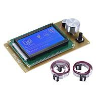 12864 LCD חכם להציג מסך מודול בקר עם כבל עבור רמפות 1.4 ארדינו מגה pololu מגן ארדנו reprap 3D מדפסת ערכת אביזר