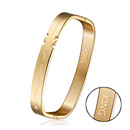 Square teeth bracelet flame of love bracelet of lovers Valentine's Day gift