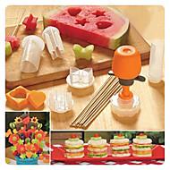 Apple Ananas Komkommer Fuchsia Hami Melon Kiwi fruit Mango Dragon Fruit DIY Mold For voor Fruit Voor kookgerei KunststofMilieuvriendelijk