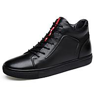 Masculino Botas Conforto Curta/Ankle Solados com Luzes Sapatos formais Sapatos de mergulho Pele Real Pele Napa Pele Primavera Outono