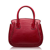 Women Bags All Seasons Cowhide Tote with for Casual Outdoor Red