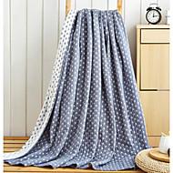 超柔らかい 幾何学模様 コットン 毛布