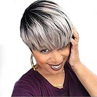 Virkistävä luonnollinen lyhyt hiukset ihmisen hiukset peruukit naisille
