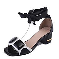 Femme Sandales Confort bottes slouch Polyuréthane Eté Décontracté Marche Confort bottes slouch Talon Compensé Blanc Noir 2,5 à 4,5 cm