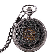 Men's Women's Pocket Watch Automatic self-winding Water Resistant / Water Proof Noctilucent Alloy Band Black