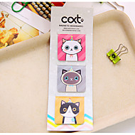 3 pcs / set cartoon cat magnétique bookmark (couleur aléatoire)
