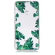 huawei p10 p10 lite用ケースカバー緑色の葉のパターン感触ニス救済高い浸透tpu素材huawei p8 lite用電話ケース(2017)