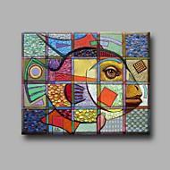 Maalattu Eläin Horizontal,Taiteellinen Moderni/nykyaikainen Toimisto/työ Joulu Uusivuosi 1 paneeli Kanvas Hang-Painted öljymaalaus For