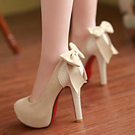 Women's Shoes PU Spring Fall Comfort Heels Stiletto Heel Round Toe For Casual Black Beige Camel