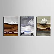 Ručně malované Krajina Vertikální,Abstraktní Tři panely Plátno Hang-malované olejomalba For Home dekorace