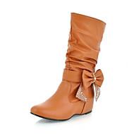 Naiset Bootsit Comfort PU Syksy Kausaliteetti Keltainen Tasapohja