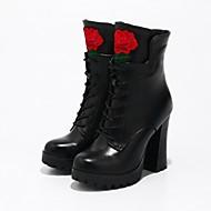 Feminino Botas Caminhada Conforto Inovador Gladiador Botas Cowboy/Country Botas de Montaria Botas da Moda Botas de Moto Sapatos formais