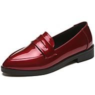 Damen Loafers & Slip-On Komfort Frühling Lackleder Kleid Niedriger Absatz Schwarz Gelb Rot 5 - 7 cm