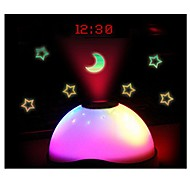 farge skiftende stjerne himmel natt lys ledet magisk digital projeksjon starry vekkerklokke tid