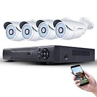 1080p poe sistema de segurança 4pcs 2mp rede ip câmera e 4ch 1080p cctv nvr suporte onvif