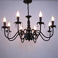 ヨーロッパスタイルのクリスタルキャンドルランプリビングルームランプダイニングルームベッドルーム衣料品店ランプとランタン装飾プロジェクトdroplight