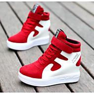 Dames Sneakers Comfortabel Echt Leer Varkensleer Herfst Winter Causaal zwart/wit Rood/Wit Zwart/Rood Wit/zilver 7,5 - 9,5 cm