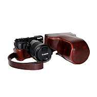 dengpin couro pu caso da câmera destacável tampa bolsa com alça de ombro para Canon EOS m3 eos-m3 (cores sortidas)