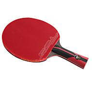 6 Sterne Ping Pang/Tischtennis-Schläger Ping Pang Carbon Faser Langer Griff Pickel 1 Schläger 1 Tischtennistasche