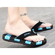 Herren Slippers & Flip-Flops Komfort PU Sommer Normal Schwarz Gelb Rot Blau Flach