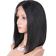 Femei Peruci Păr Uman Păr Natural Integral din Dantelă Față din Dantelă Tresă Fără Lipici 130% Densitate Drept Perucă Negru Scurt Mediu