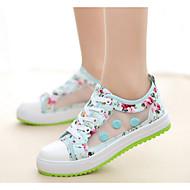 Dames Sneakers Comfortabel Lente Tule Causaal Groen Roze Plat