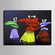 Handgemalte Menschen Horizontal,Abstrakt Ein Panel Leinwand Hang-Ölgemälde For Haus Dekoration