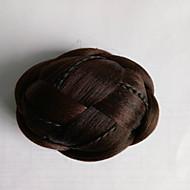 excêntricas chignons perucas moda marrom cabelo humano sem capa encaracolados 2009